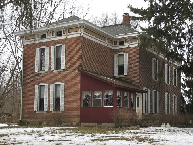 Just a normal-looking old house, right? It's in Westfield, Indiana, built in the mid-1800s by Dr. Jacob Pfaff. But there's more to it than that. (Charlie Nye/The Indianapolis Star)