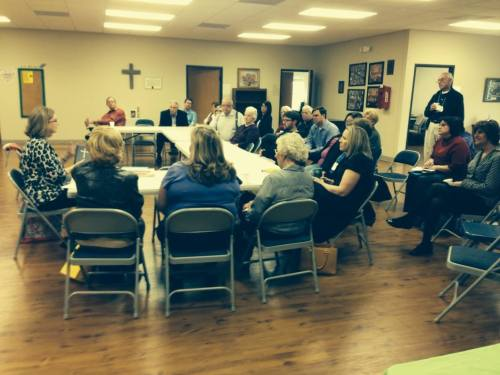 Adult Sunday School class last week at Church of the Holy Spirit, Alabaster, Alabama. (The Rev. Malcolm Marler)