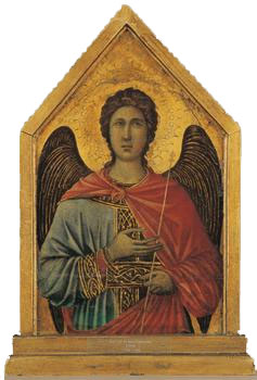The angel Gabriel. (Duccio di Buoninsegna)