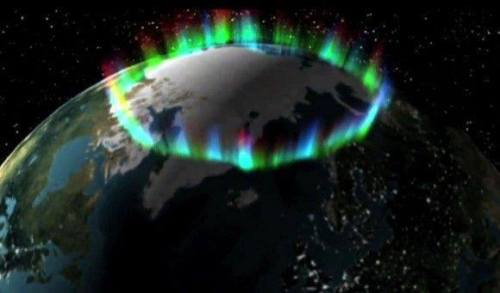 Northern Lights from space. (Brian Statham)