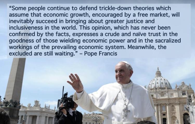 PopeFrancisTrickleDown