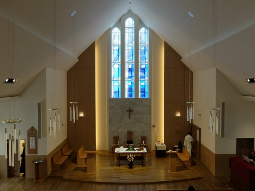 The interior of Christ Church Cathedral, Sendai, Japan. (Scott Shaw)