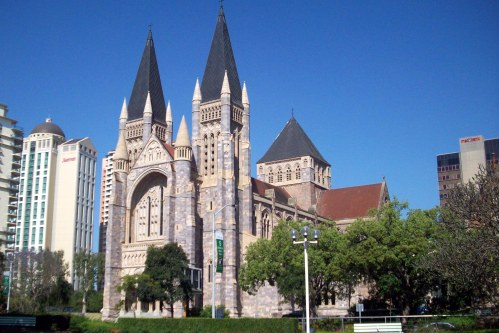 St. John's Cathedral, Brisbane. Completed only two years ago, it's now a magnificent space. (shipoffools.com)