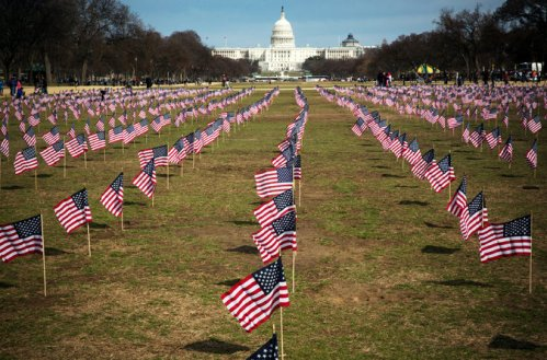 Some 1,892 U.S. flags were planted on the National Mall in Washington last Thursday to remember veterans of the wars in Iraq and Afghanistan who have committed suicide, just since 1.1.14. That's 22 per day – and they're not included in the numbers we report below. (Stephen Crowley/The New York Times)