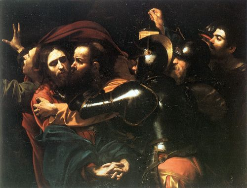 Caravaggio, c. 1602: The Taking of Christ (National Gallery of Ireland)
