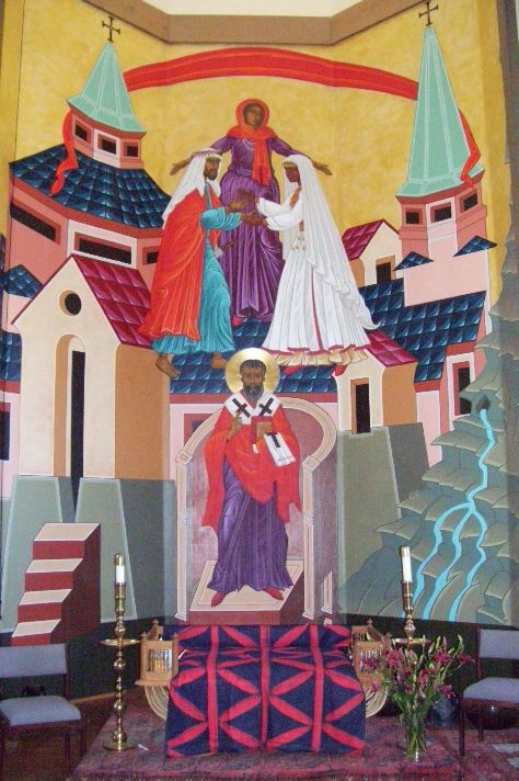 Mark Dukes: Christ Weds the Church, icon at St. Gregory of Nyssa Church, San Francisco, California.