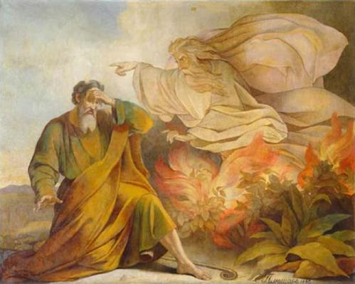 Eugene Pluchart, 1848: God Appears to Moses in the Burning Bush (St. Isaac's Cathedral, St. Petersburg, Russia)