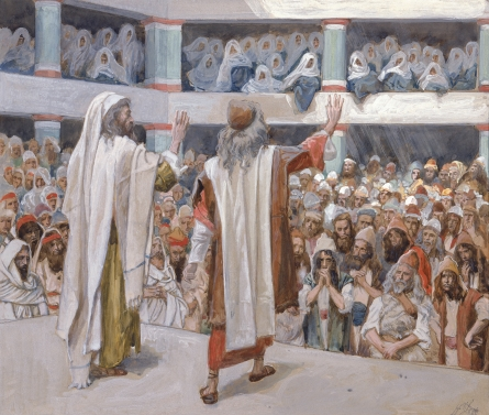 James J. Tissot, c. 1902: Moses and Aaron Speak to the People