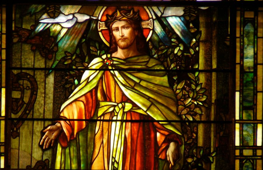 Louis Comfort Tiffany: Christ the Light of the World, at Grace-St. Luke's, Memphis, Tennessee. (Wikipedia)