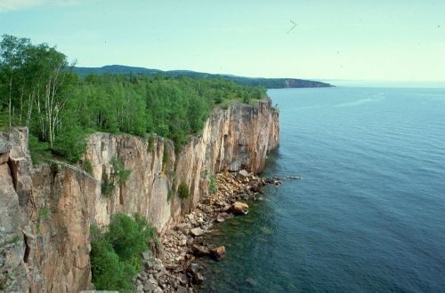 For joy in God's creation: the north shore palisade on Lake Superior, Minnesota, USA. (Environmental Protection Agency)