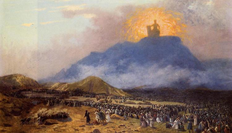 Jean-Léon Gérôme, 1895-1900: Moses on Mt. Sinai (Wikimedia)