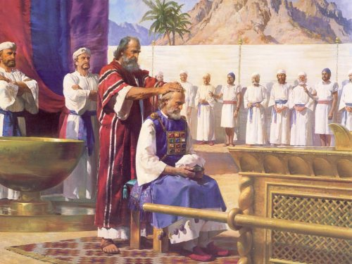 Moses ordains Aaron; artist unknown.