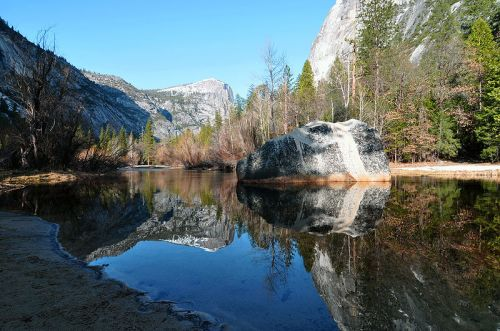 For joy in God's creation: Mirror Lake, Yosemite National Park, California. (Wikipedia)