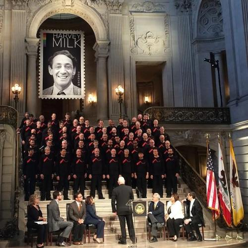 The U.S. Postal Service has issued a stamp commemorating the Gay civil rights leader Harvey Milk, which was unveiled 28 May at San Francisco City Hall, where he was an elected supervisor or city council member before being murdered along with Mayor George Moscone. The San Francisco Gay Men's Chorus sang as the curtain was lifted, and Milk's nephew was also present. June is GLBT Pride Month around the world and my diocese will be participating in festivities this week.