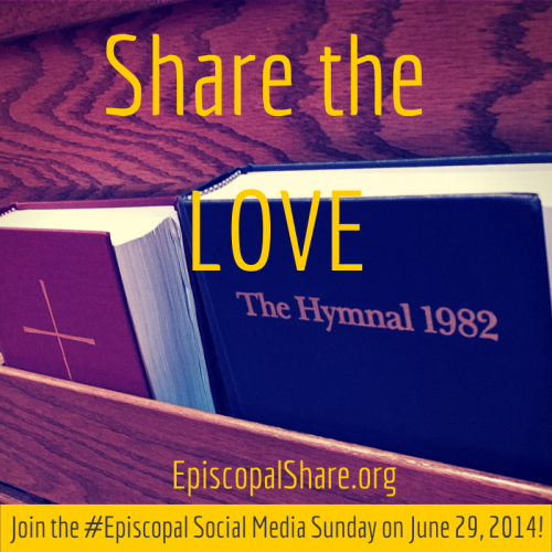 Episcopal Communicators are encouraging an outpouring of #episcopal tweets, selfies and other posts on social media June 29, and for those in other countries, there's no reason Eastern Hemisphere churches can't join in too; just change the hashtag to #anglican and show the world some holy spirit.