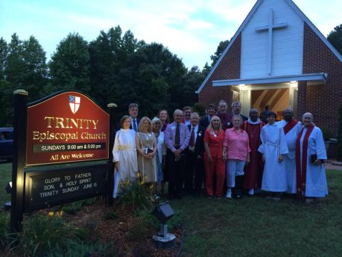 A rare evening Confirmation two weeks ago with Bishop Michael Curry at Trinity Church, Fuquay-Varina, and St. Timothy's, Wilson, North Carolina. (via Facebook)