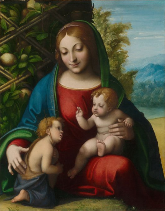Correggio, c. 1515: Virgin and Child with Young St. John the Baptist (Art Institute of Chicago)