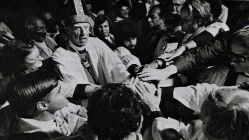 "Edward Welles II, retired Bishop of West Missouri, ordained his daughter the Rev. Katrina Swanson and ten other deacons as priest in Philadelphia 40 years ago. He was one of three consecrators. The ordinations were later deemed ""irregular,"" but they were never prohibited by canon law. Until 1970, women weren't even allowed to vote at General Convention (Synod) – 50 years after women's suffrage was legalized in civic elections. (Wikipedia)"