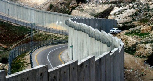 Two roads along the border wall in Gaza. Jimmy Carter called this apartheid. (Thrival Room)