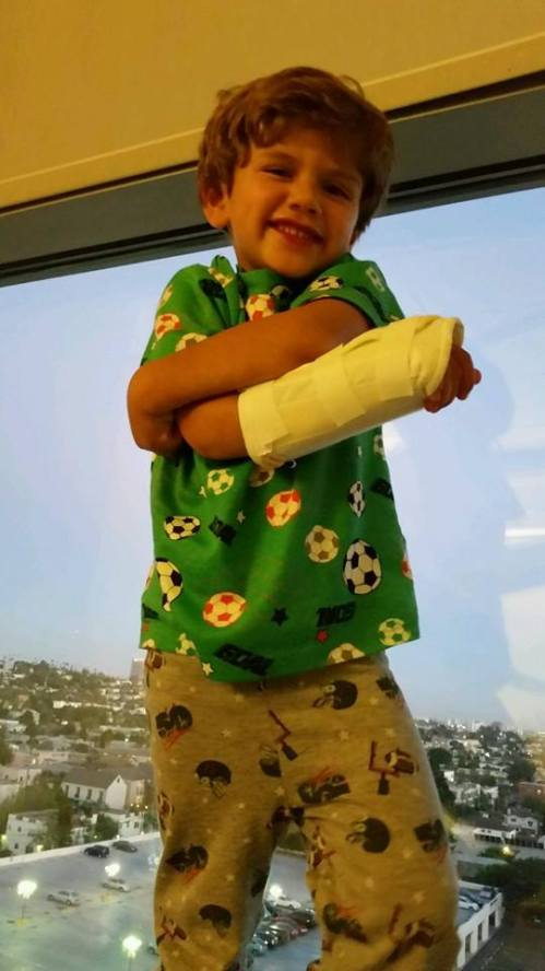 Thanks be to God: Jacob, whom we've been praying for during our webcasts, got to go home yesterday from the hospital. He wanted to go to Disneyland right away!