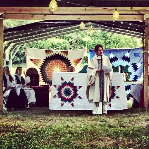 Presiding Bishop Katharine Jefferts Schori preached and celebrated last week at the 142nd Niobrara Convocation on the Santee Sioux Reservation in Nebraska, USA. (Sarah Eagle Heart)