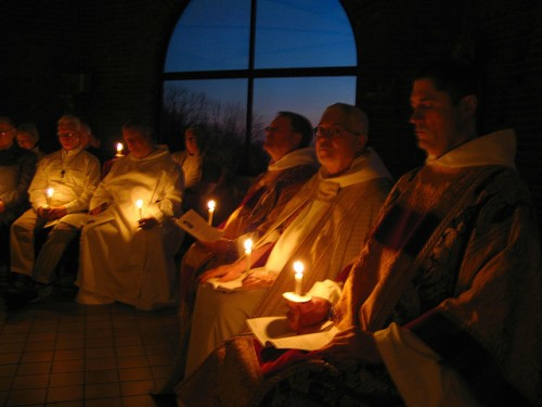 Monks at prayer, Holy Cross Monastery, West Park, New York (Br. Randy Greve, OHC, 2009)