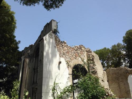 The remains of world-famous Port-au-Prince Cathedral, Haiti, visited last week by a delegation from the Diocese of Indianapolis. (Matthew Cole)