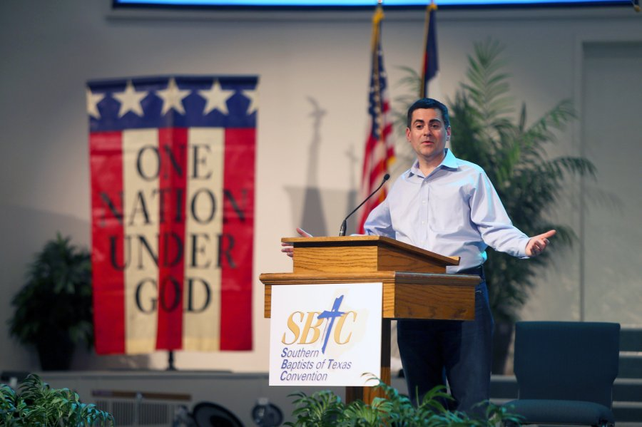 Russell Moore of the U.S. Southern Baptist Convention visited detention centers this week in Texas for thousands of Central American refugee children, calling for compassion and care, not hostility and fear. Christian leaders all over the theological spectrum have agreed in a rare show of unity. (Jennifer Whitney/The New York Times)