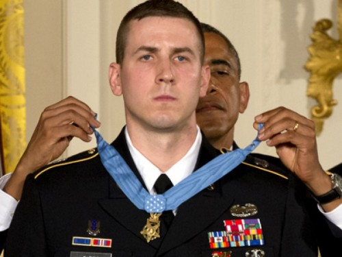 "Former Army Staff Sgt. Ryan M. Pitts was awarded the Medal of Honor yesterday for his heroic actions in a 4 a.m. firefight in Afghanistan. But the real heroes, he said, are the nine men who died in the Battle of __. ""Spc. Sergio Abad, Cpl. Jonathan Ayers, Cpl. Jason Bogar, 1st Lt. Jonathan Brostrom, Sgt. Israel Garcia, Cpl. Jason Hovater, Cpl. Matthew Phillips, Cpl. Pruitt Rainey, and Cpl. Gunnar Zwilling,"" he read, and in an homage to Chosin company of the 503rd parachute infantry regiment, added:  ""Thank you. The Chosin few."" (Jacquelyn Martin/Associated Press)"