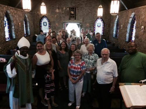 The Bishop of North Carolina visited St. Mark's, Roxboro on Sunday - and we have a Prayer for Towns and Rural Areas in just a minute. (Diocesan photo on Facebook)