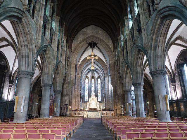 "St. Mary's Cathedral, Edinburgh. Scotland's oldest cathedrals passed from Roman Catholics to Episcopalians to Presbyterians after the Reformation, which forced the Anglicans to build new. Here the result was a Grade A ""listed building."" (Kim Traynor)"