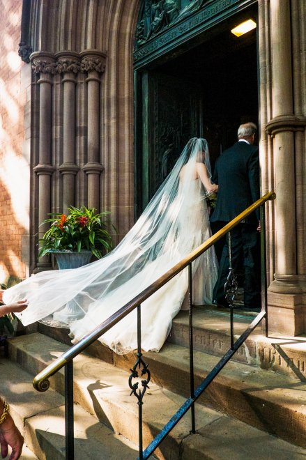 A June 2014 wedding at the General Theological Seminary in New York City; they may have drunk some wine afterward. (Devin Yalkin/The New York Times)