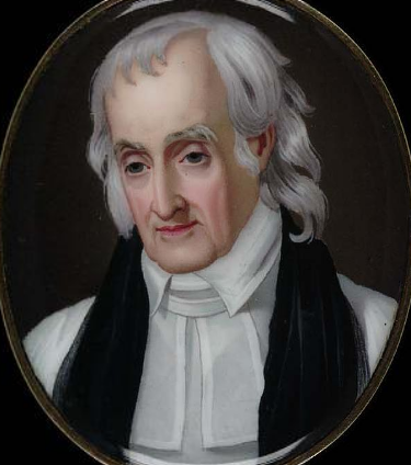 William White is the George Washington of the Episcopal Church: chaplain of the Continental Congress and later the U.S. Senate; architect of the democratic Episcopal constitution, including laypeople in church governance for the first time; twice Presiding Bishop. he picked up the pieces of the defeated, demoralized Church of England in the Colonies and somehow turned it into the leading church in the United States. It's since lost that position, of course, but never the memory of White of Pennsylvania. He made us what we are today. (William Birch, Smithsonian American Art Museum)