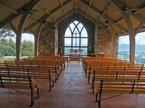 Outdoor chapel at Camp Mitchell, the diocesan camp and conference center near Petit Jean Mountain, Arkansas. (John Montreville Denton)