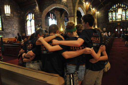 "Conferees at the Episcopal Youth Event two weeks ago visited historic St. Thomas African Episcopal Church in Philadelphia, a perfect setting to ponder what it means to be ""Marked for Mission."" (Mary Frances Schjonberg/Episcopal News Service)"