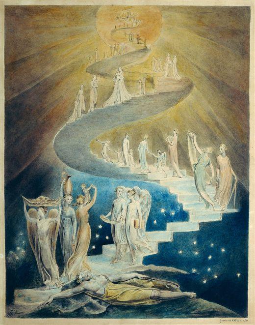 William Blake, 1805: Jacob's Dream (British Museum)