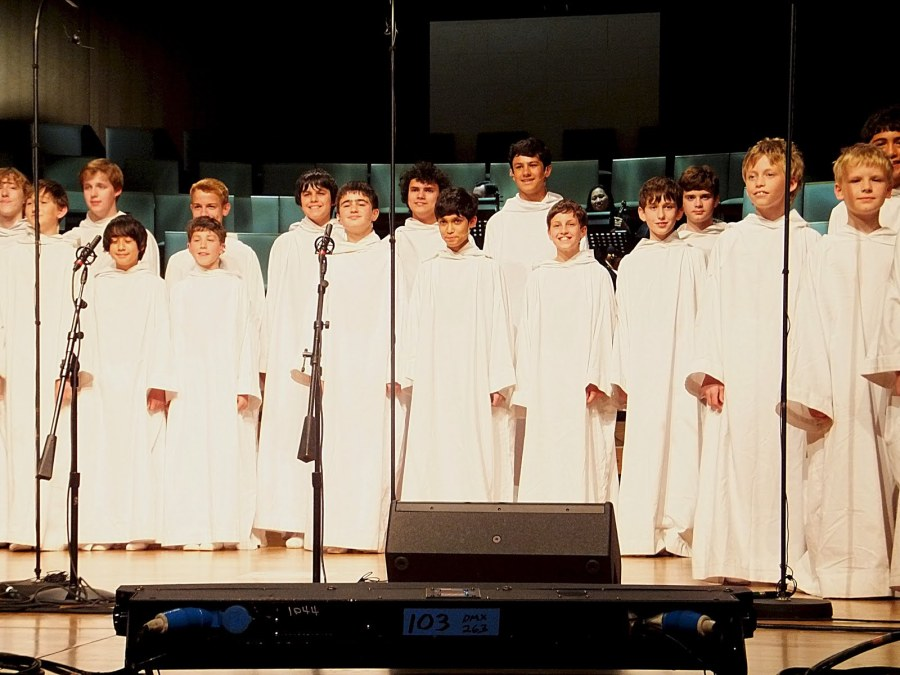 Libera onstage in Houston, 2011. (Lauren Booth)