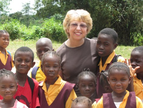 "We ask your prayers for a second missionary in Liberia, Nancy Writebol, who has returned to the United States for treatment of Ebola. She and her husband David were working with Serving in Mission and Samaritan's Purse. Yesterday her colleague Dr. Kent Brantly released a statement from his hospital room in Atlanta praising God and saying he was ""growing stronger every day."" (Jeremy Writebol, 2013)"