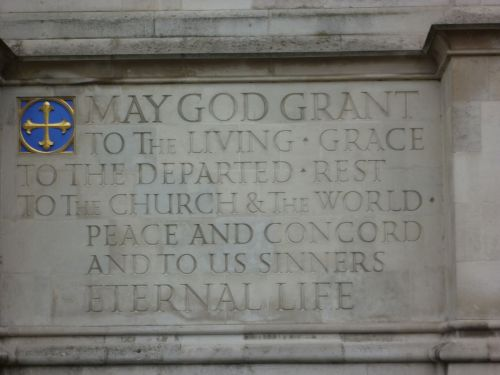 Prayer inscribed at Westminster Abbey. (Ali A. Fazal/Wikipedia)