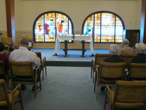 Eucharist last weekend at San Damiano Retreat in Danville, California for the Third Order, Society of St. Francis, Province of the Americas' Western Convocation. (Alison Saichek)