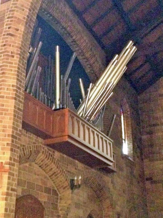 St. Mary's, Napa won't be hearing any organ music for awhile; they plan to meet in the parish house. (via ENS)