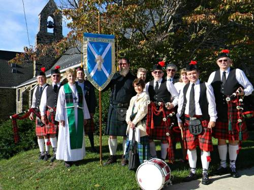 Kirkin' O' the Tartan and a Festal Eucharist were held two weeks ago at Grace Church, Brunswick, Maryland, part of a weekend celebration of Scottishness. (The Episcopal Church on Facebook)