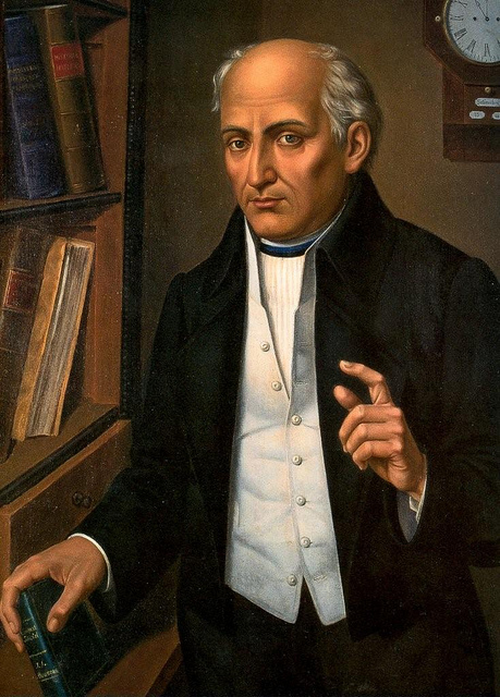 """Miguel Hidalgo, considered the Father of Méxican (and all Central American countries') Independence, was a Jesuit priest and revolutionary commander. He twice defeated Spanish loyalist troops in battle and approached México City with a large army but stopped short, perhaps fearing the carnage that would result. This was a tactical mistake which set back the revolution by 20 years; the Spaniards executed him. His legacy is that he gave """"criollas,"""" Amerindians and African slaves a vision and voice of freedom. (Wikipedia)"""