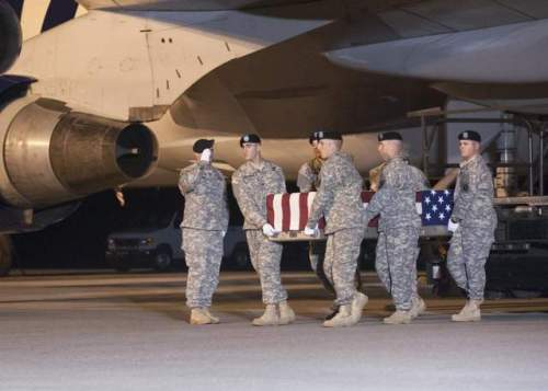 The body of Sgt. Mulalley was given military honors August 23 upon arrival at Dover Air Force Base, Delaware, USA. He served three combat tours, once in Iraq and twice in Afghanistan; he leaves behind a wife and two sons. (Dover AFB)