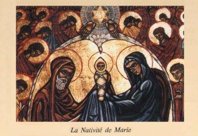 Some Anglican churches, including Canada, Australia and New Zealand, observe the Nativity of Mary today, nine months after the feast of the Immaculate Conception. Neither is recognized by The Episcopal Church, but we are a diverse Communion. (The Rev. Bosco Peters' Liturgy blog, on Facebook(