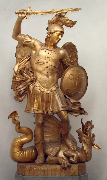 St. Michael and the Serpent, University of Bonn, Germany. (Wikipedia)