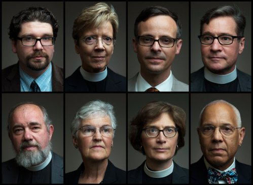 "The GTS 8: eight of the ten full-time faculty members at the General Theological Seminary in New York announced last week they would not teach class or go to chapel, to protest what they termed ""bullying"" by the Dean; they asked for a meeting with the board of trustees. The executive committee of the board terminated them in response and canceled half the classes. Many alumni are outraged, and yesterday the board reversed its refusal to meet the professors as a group. Various remarks of the dean's have been cited, and while words can be interpreted more than one way, there is no doubt he canceled the daily Eucharist and moved Morning Prayer from 8:00 to midmorning. The future of The Episcopal Church's oldest seminary is now considered doubtful, and we ask your prayers for all concerned. (Illustration: The New York Times)"