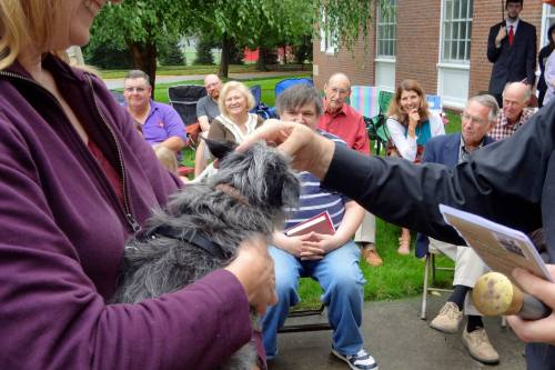 St. Francis' Day pet blessing last year at Chapel of the Good Shepherd, West Lafayette, Indiana. (via Facebook)