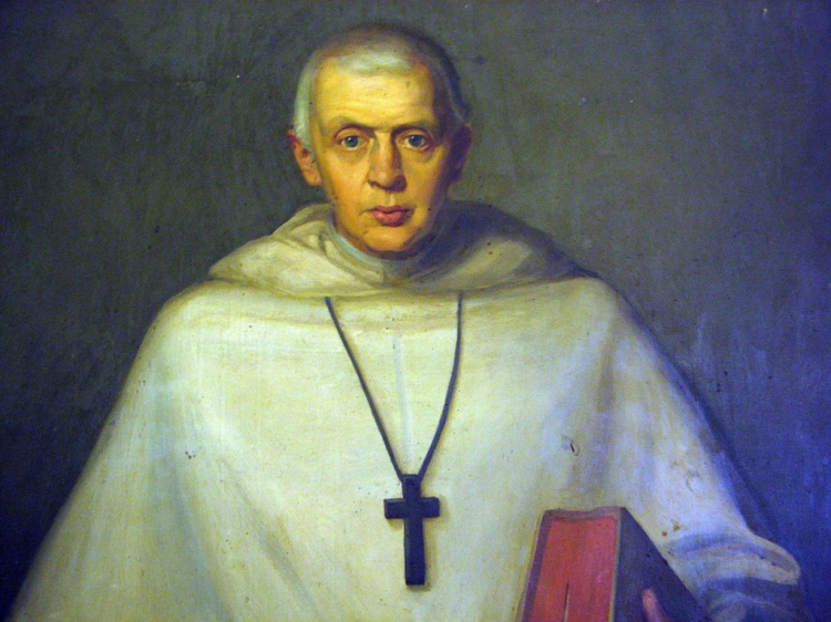 This portrait of James Huntington hangs in Holy Cross Monastery in West Park, New York, which he founded in 1884. OHC is a major American religious order for men, with additional monasteries in California, Ontario and South Africa. Huntington was the son of a bishop of Central New York, followed his father into the priesthood, worked with immigrants on the Lower East Side of Manhattan, then felt a call to the monastic life. The monastery in West Park was the first new building for an Anglican religious order since Henry VIII. (artist unknown)