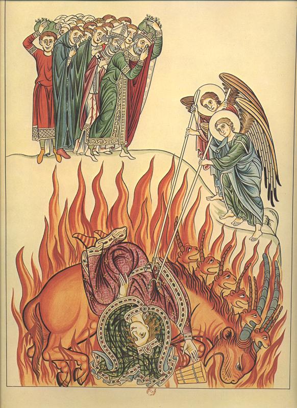 "Herrad von Landsberg, 12th Century: The Whore of Babylon. Another translation of the word is ""idolatress."""
